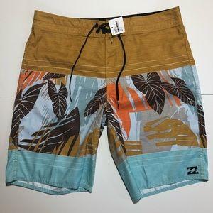 TOMAS MAIER x UNIQLO /'Large Palms/' Men/'s Designer Swim Trunks Shorts L BEIGE NWT